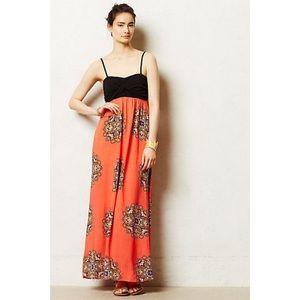 Anthropologie - Petite Coral Canyon Maxi Dress